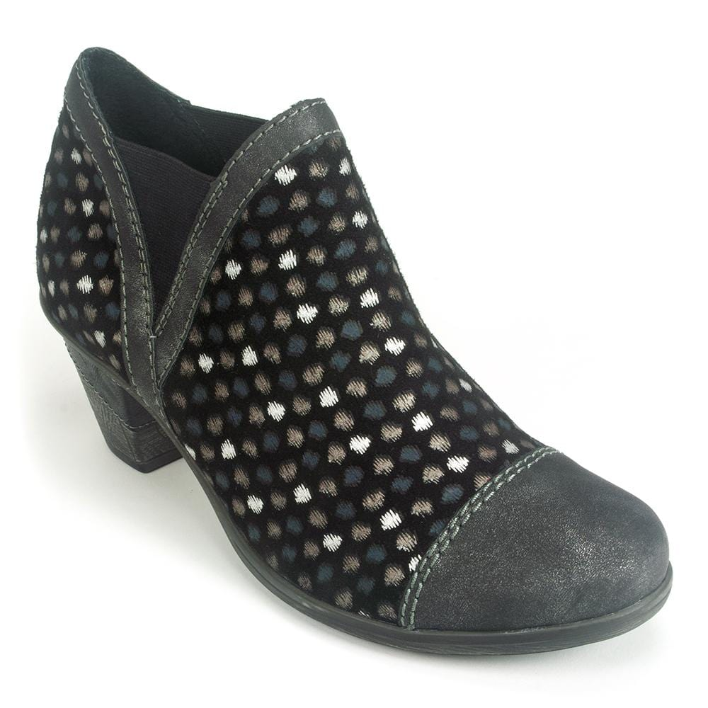 Remonte Polka Dot Women's Leather Ankle Bootie (D8790) | Simons Shoes
