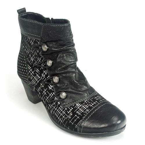 Remonte Printed Bootie (D8792) | Women's Leather Heel | Simons Shoes