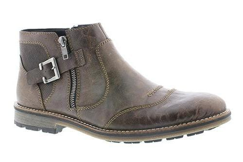 Rieker F5550 Men's Vintage Leather Edgy Winter Fall Ankle Boot Shoe
