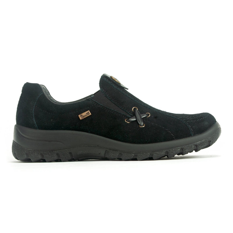 Rieker L7171 Women's Waterproof Suede Slip On Walking Shoe Black | Simons