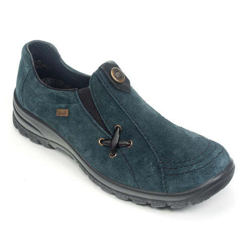 Rieker L7171 Women's Waterproof Suede Slip On Walking Outdoor Shoe