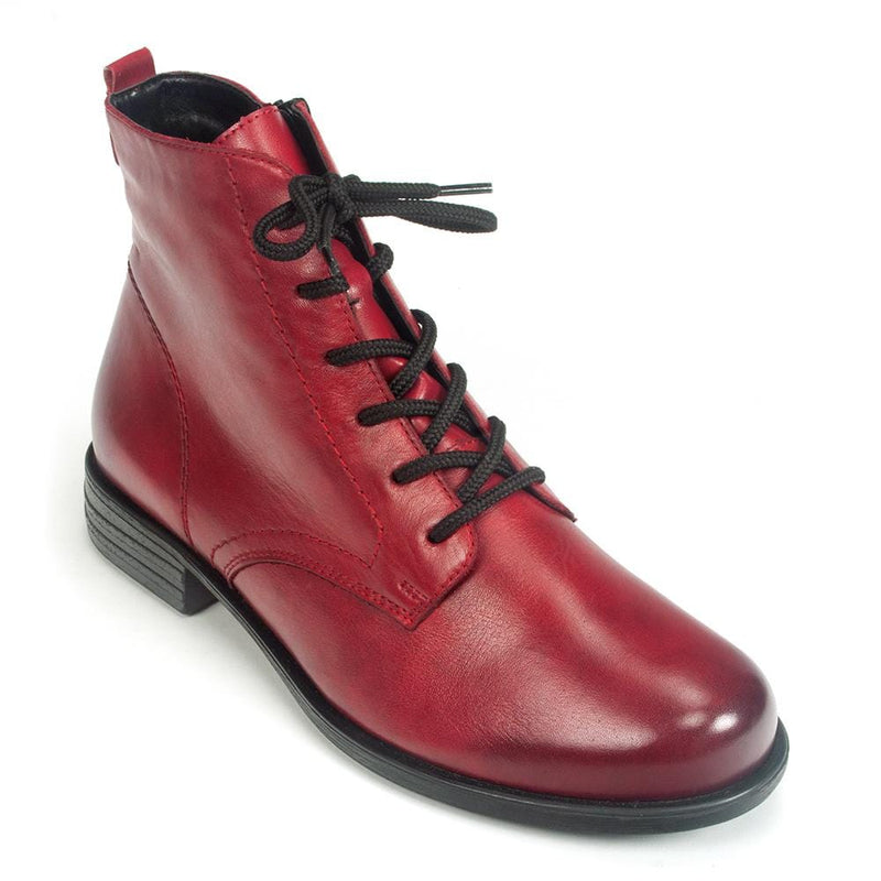 Remonte Red Leather Women's Ankle Bootie (R0971) | Simons Shoes