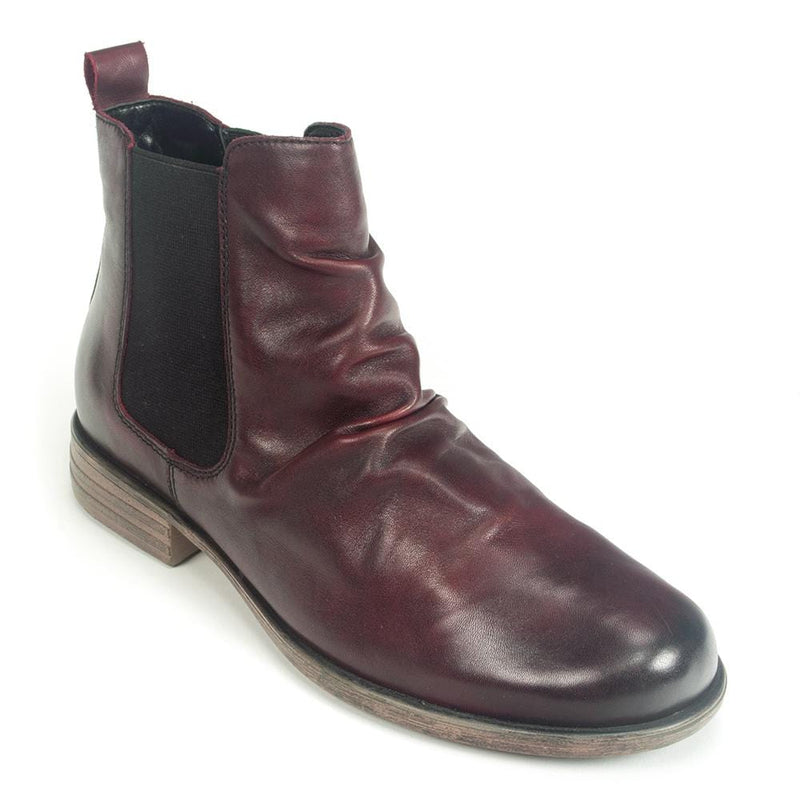 Remonte Women's Leather Ruched Chelsea Boot (R0973) | Simons Shoes
