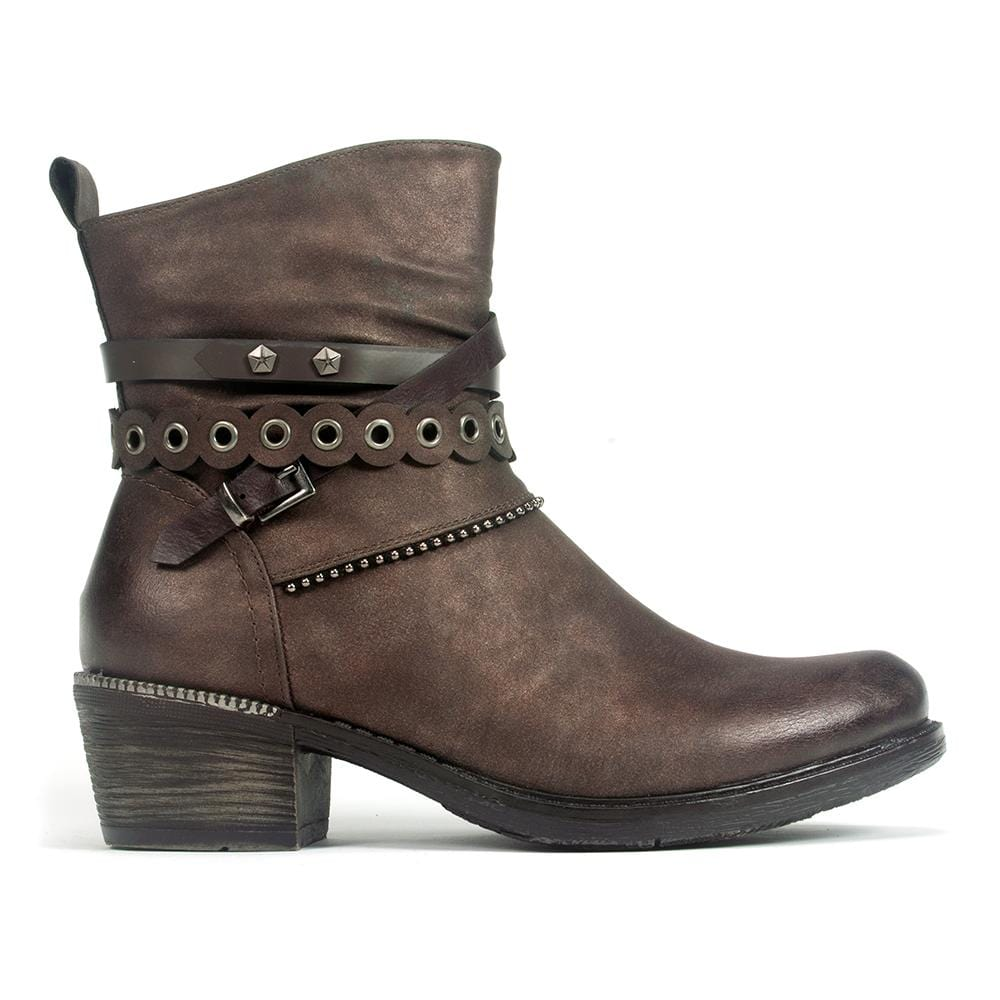 Remonte Women's Metallic Leather Ankle Boot (R1171) | Simons Shoes