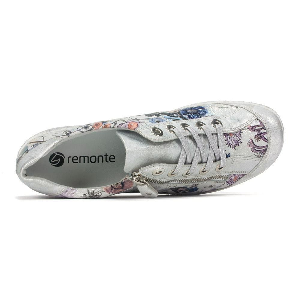 Remonte R1402 | Women's Metallic Leather Casual Sneaker | Simons Shoes