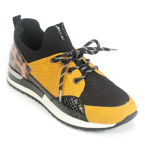 Remonte Women's Animal Print Colorblock Sneaker (R2503) | Simons Shoes