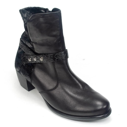 Remonte R2676 | Women's Floral Leather Country Heeled Boot | Simons