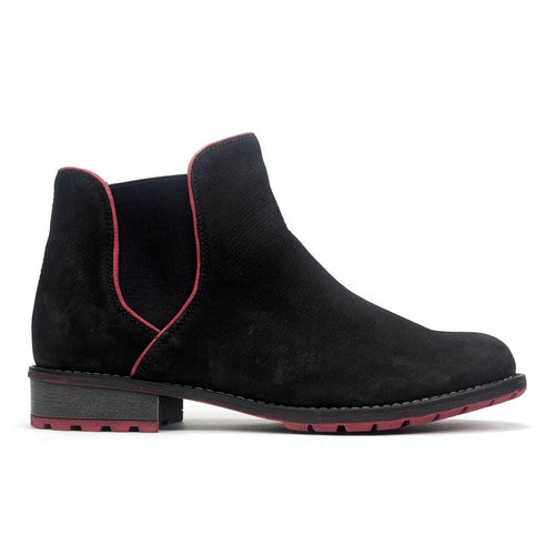 Remonte R3315 | Women's Suede Red Accent Zip Up Chelsea Boot | Simons