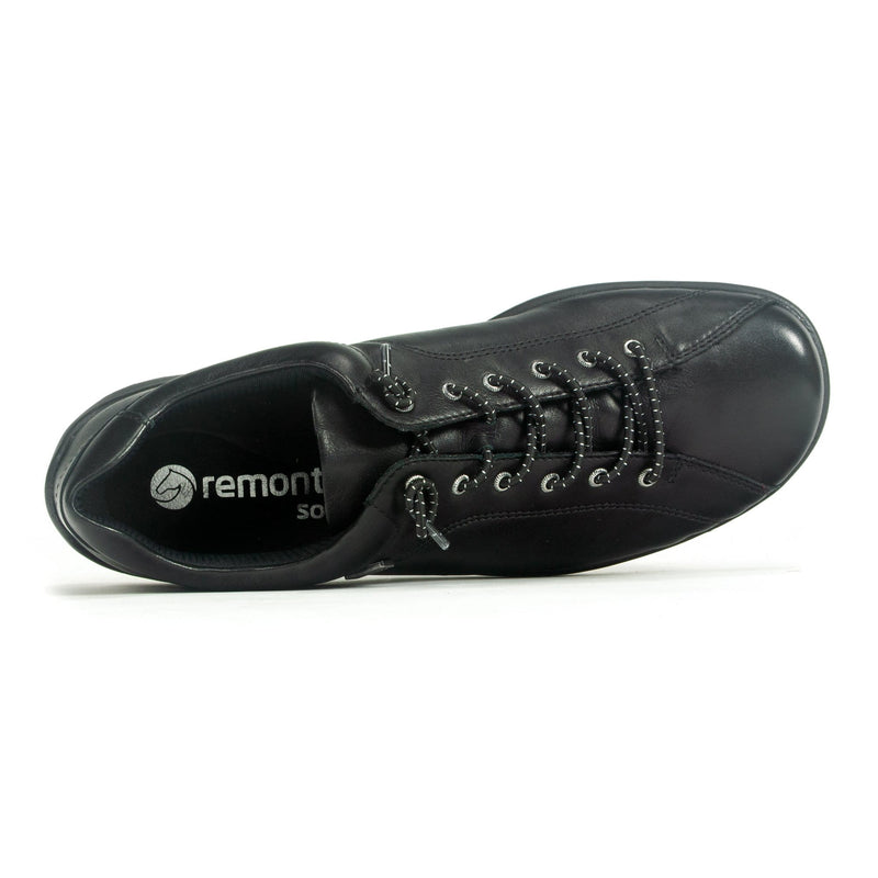 Remonte R3515 Women's Leather Slip On Casual Sneaker 02 Black | Simons Shoes