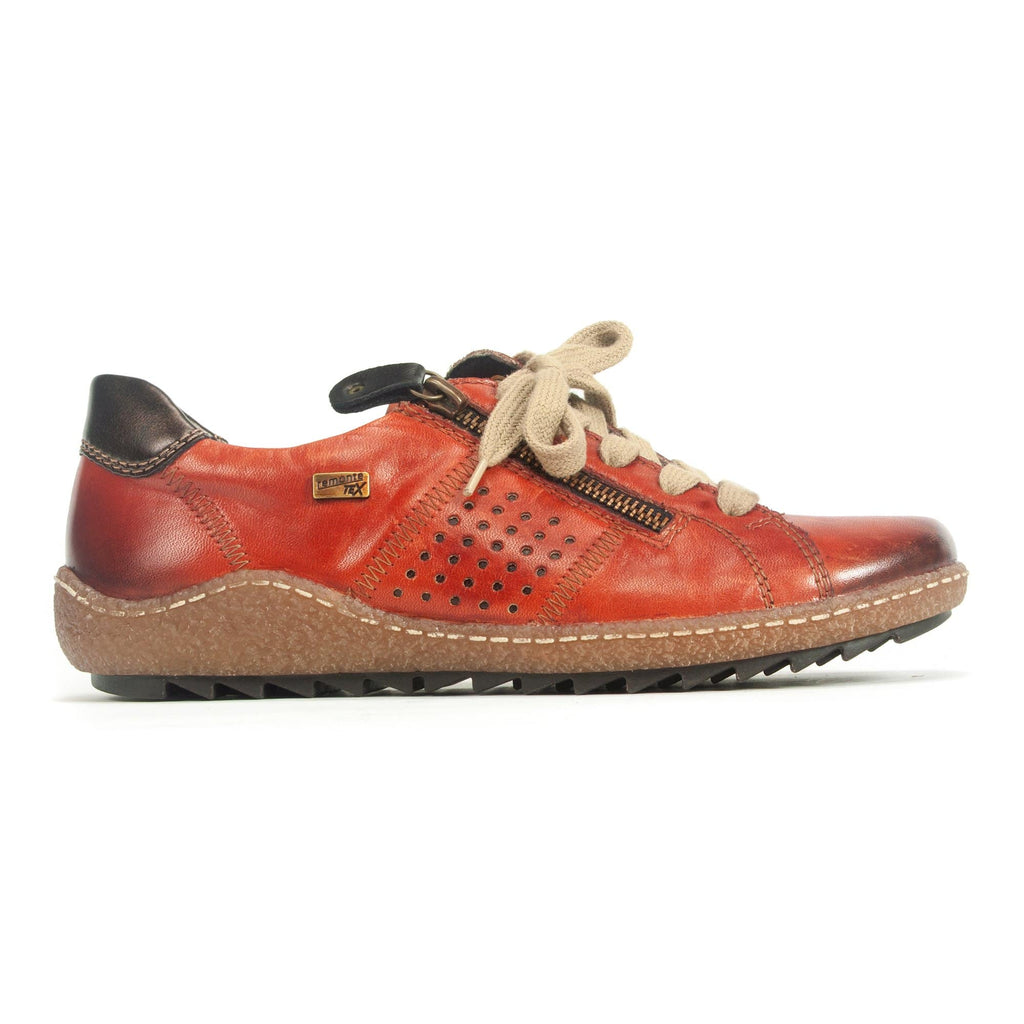 Remonte R4717 Women's Comfort Leather Zip Up Sneaker 38 Orange | Simons Shoes