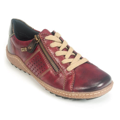Remonte Zip Up Sneaker (R4717) | Women's Leather Comfort Shoe | Simons