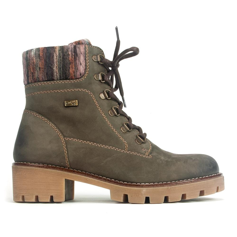 Remonte Women's Lace Up Leather Hiking Boot (R5378) | Simons Shoes