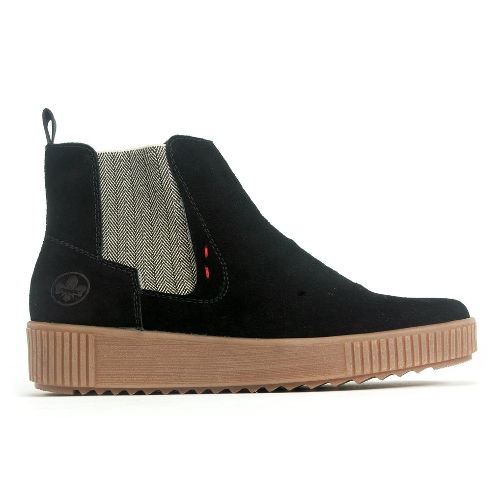 Rieker Chelsea Boot (Y6473) Women's Ankle High Side Zip | Simons Shoes