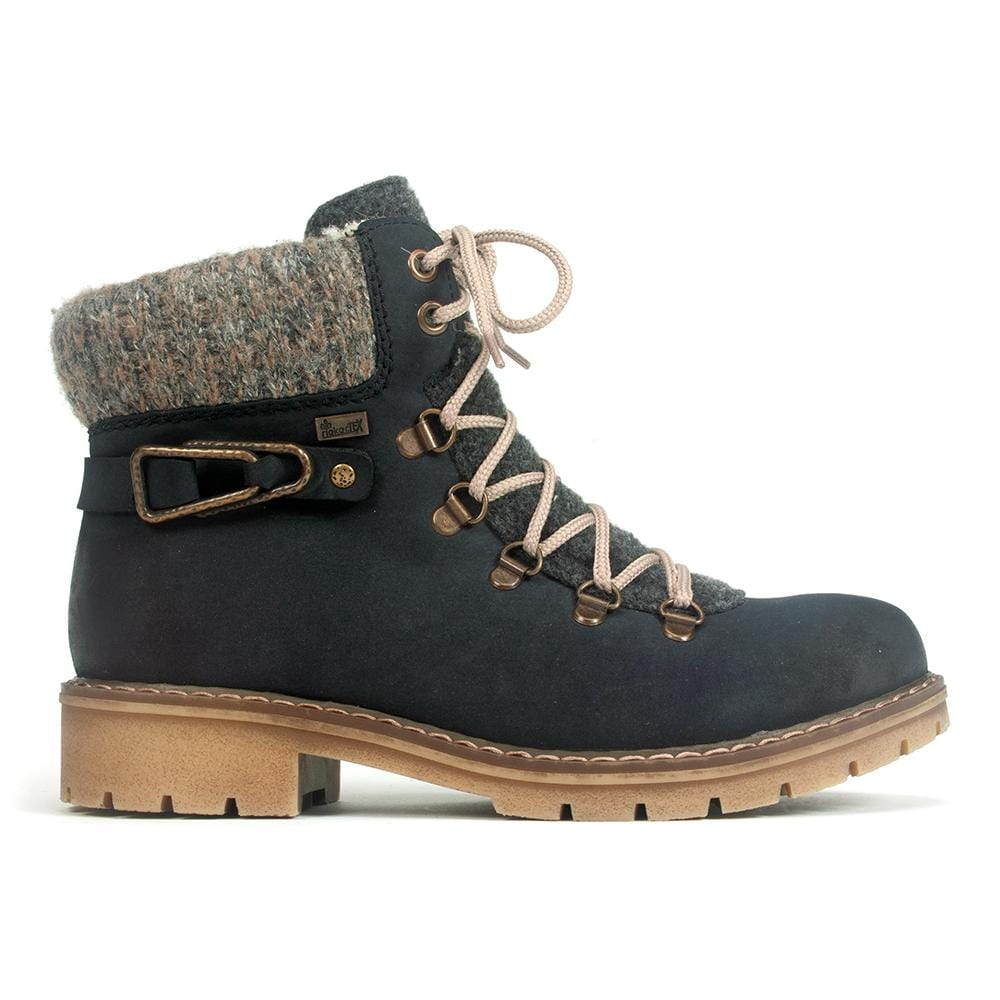 Rieker Y9131 Women's Waterproof Suede Lace Up Winter Combat Boot