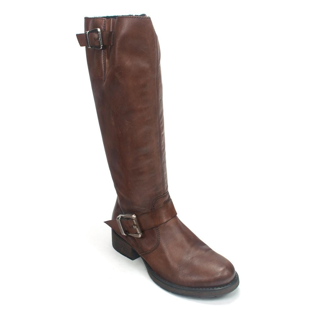 Rieker Z9580 Leather Zipper Buckle Tall Riding Boot