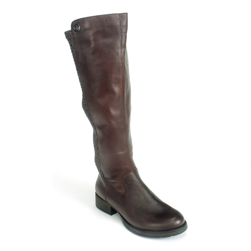 Rieker (Z9591) Women's Riding Boot Leather Fleece Lined Moro | Simons Shoes