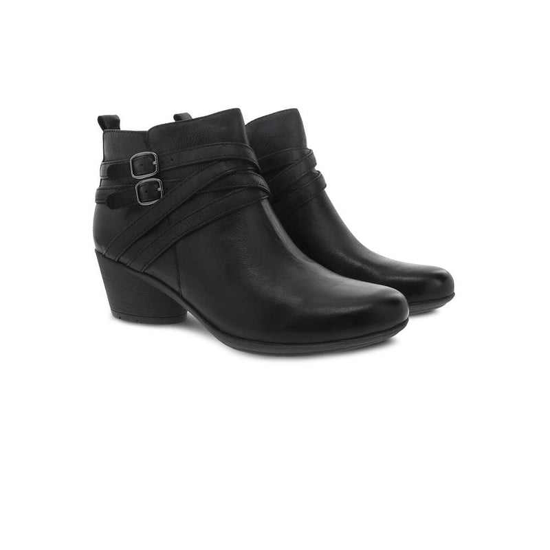 Dansko Roberta Womens Strappy Leather Buckle Bootie | Simons Shoes