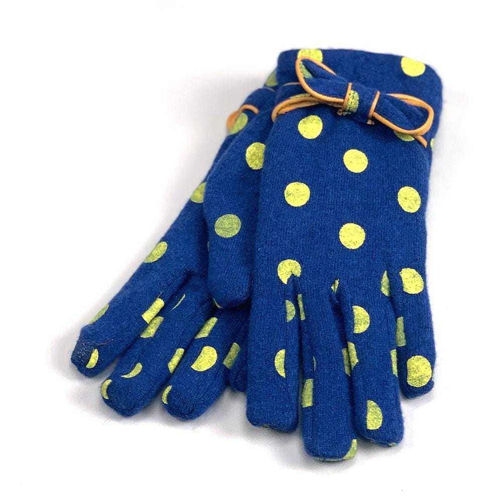 Santacana Women's Polka Dot & Bow Glove Wool Blend │ Simons Shoes