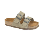Naot Santa Barbara Women's Suede Cork Buckled Slide Sandal 382 Taupe | Simons Shoes