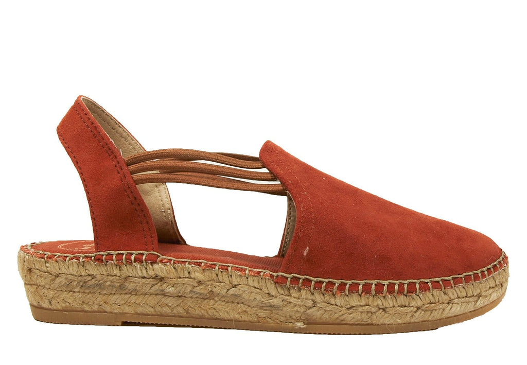 Toni Pons Nuria Womens Suede Sling Back Espadrille Brandy | Simons Shoes