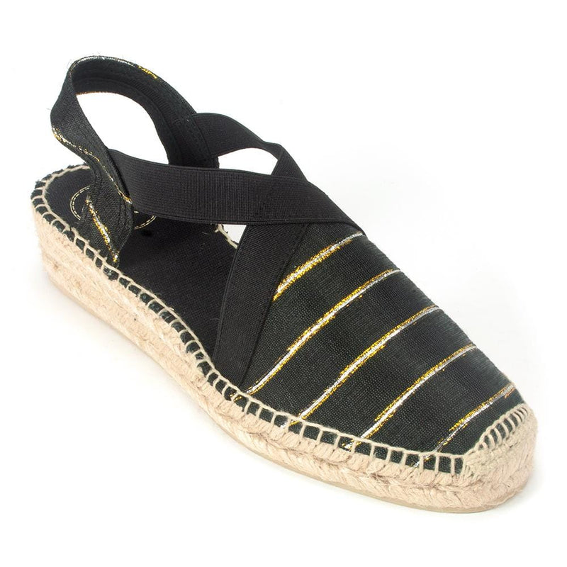 Toni Pons Vera Womens Striped Fabric Jute Espadrille | Simons Shoes