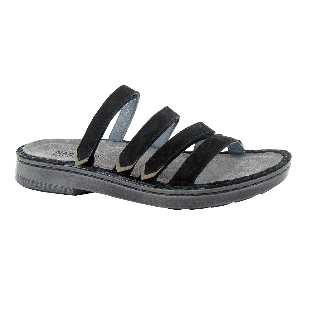 Naot Trevi Womens Adjustable Leather Slide Sandal | Shop Simons Shoes
