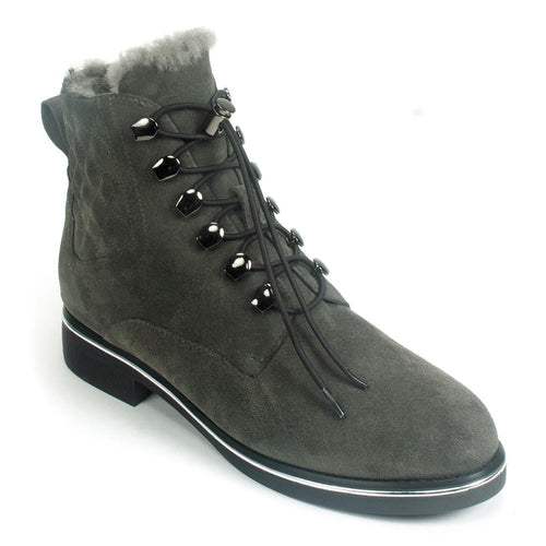 Valdini Petra | Women's Waterproof Suede Combat Boot | Simon Shoes