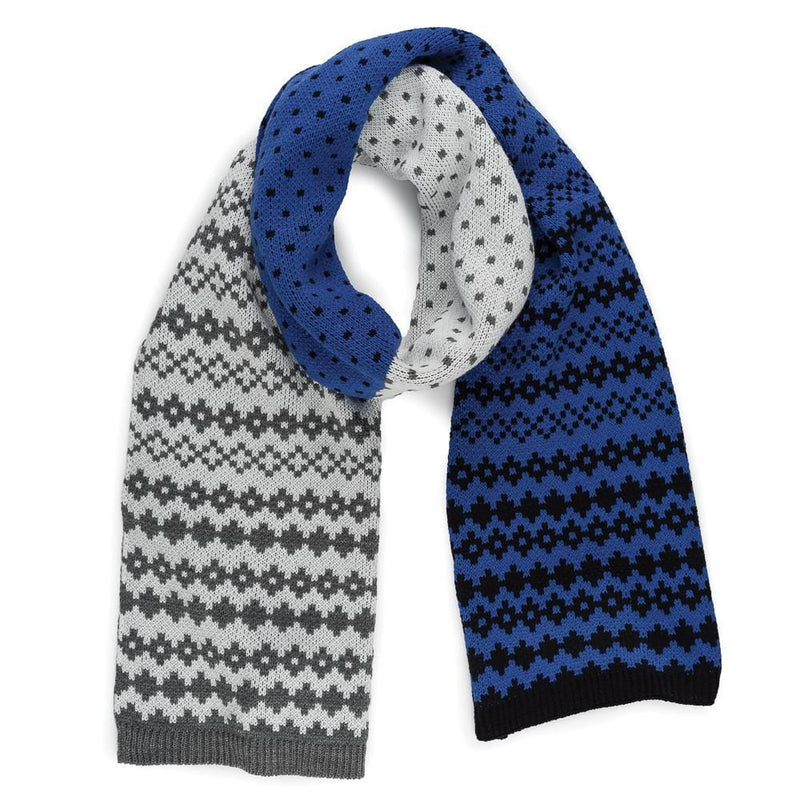 Verloop Fair Isle Colorblock Scarf Women's Soft Acrylic │ Simons Shoes