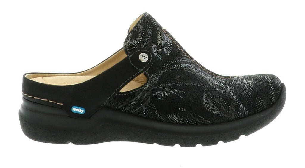 Wolky Holland | Women's Leather Casual Slip On Shoe Black Antique Palm Suede | Simons Shoes