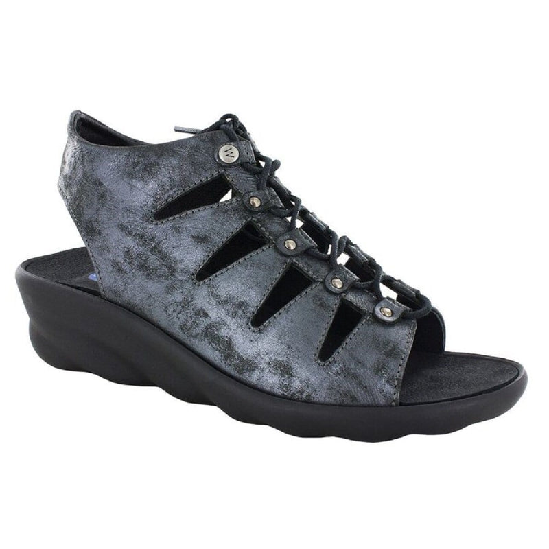 Wolky Arena 3126 | Women's Leather Ghillie Comfy Wedge Sandal | Simons