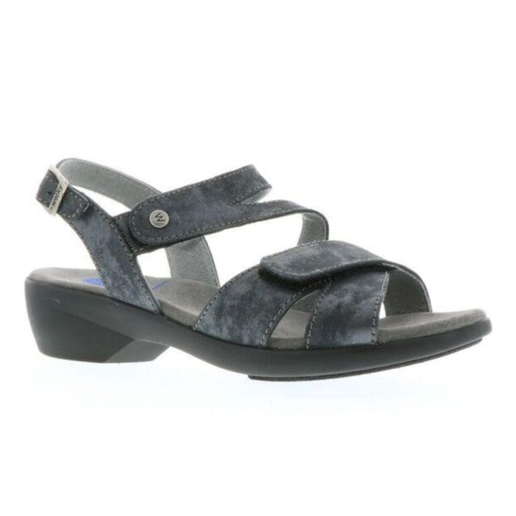 Wolky Fria 0776 | Women's Leather Strappy Low Heeled Sandal | Simons