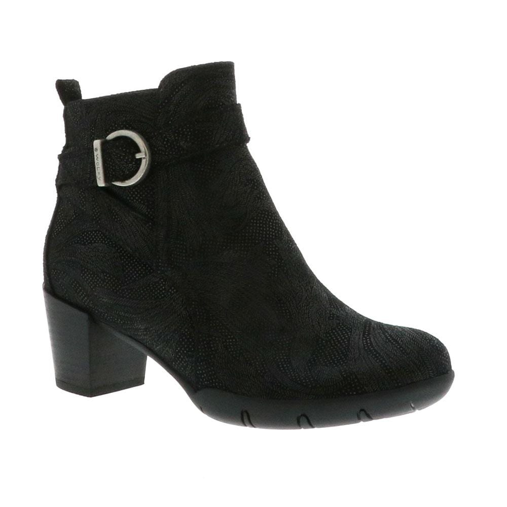 Wolky Nampa Women's Heeled Genuine Leather Bootie Black │ Simons Shoes