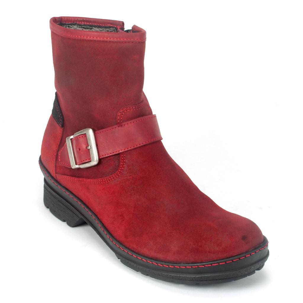 Wolky Nitra Womens Waterproof Lined Leather Ankle Boot Liverpool Dark Red | Simons Shoes
