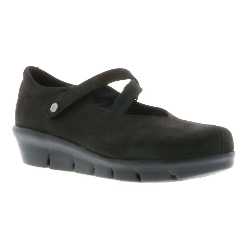 Wolky Sabik Women's Leather Casual Slip On Shoe Black Antique | Simons Shoes