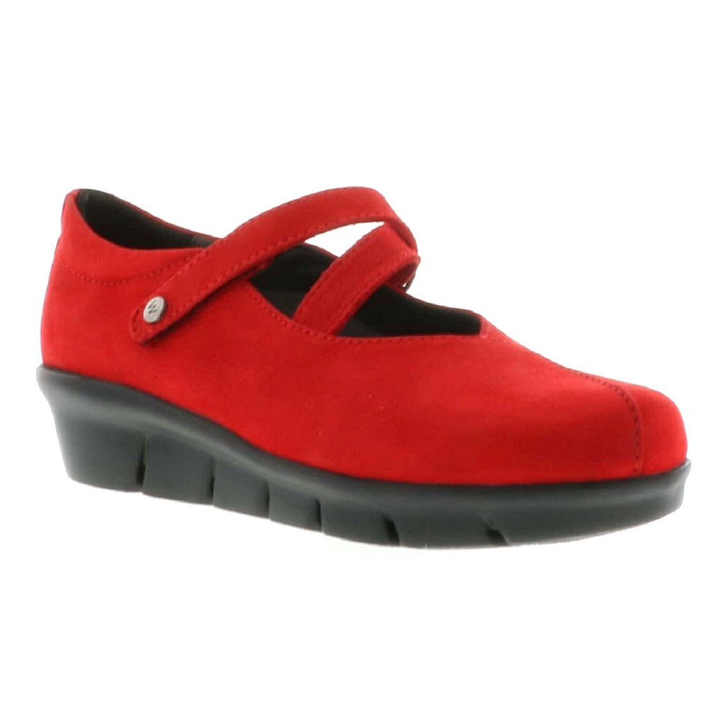Wolky Sabik Women's Leather Casual Slip On Shoe Dark Red Antique | Simons Shoes