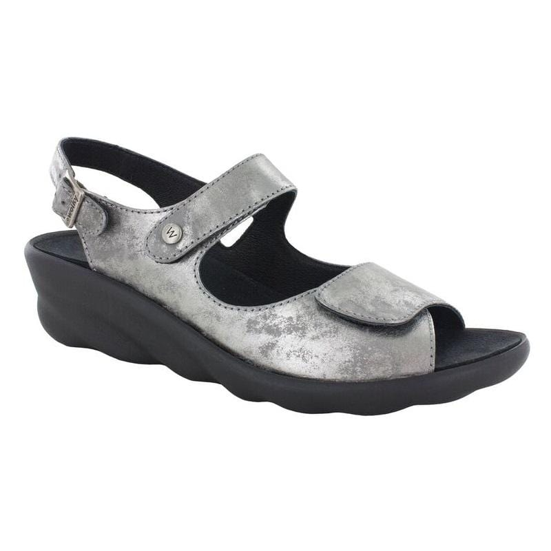 Wolky Scala 3125 | Women's Leather Wave Cushion Wedge Sandal | Simons