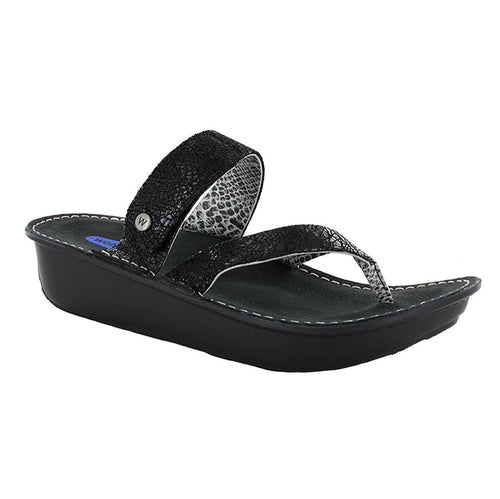 Wolky Tahiti 6180 | Women's Leather Memory Foam Thong Sandal | Simons