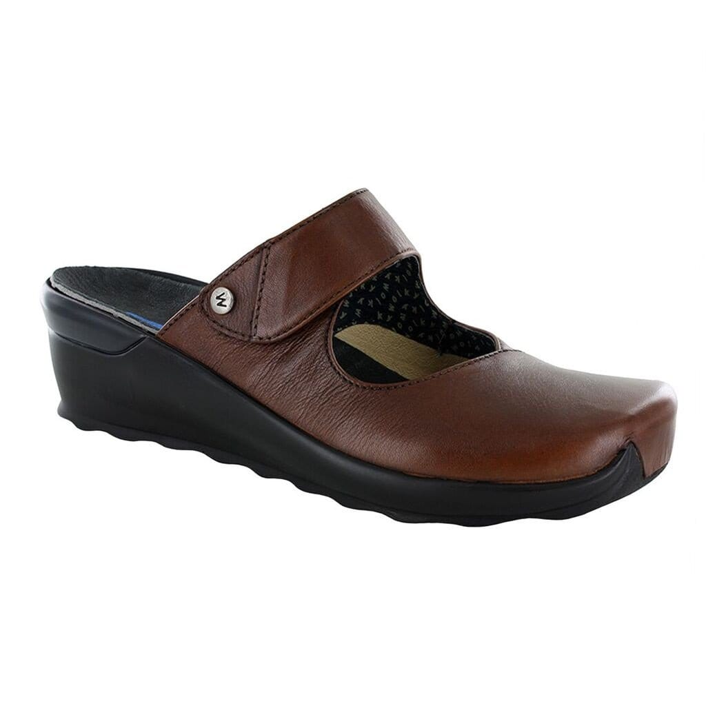 Wolky Up 2576 | Women's Leather Slip On Cut Out Comfort Clog | Simons