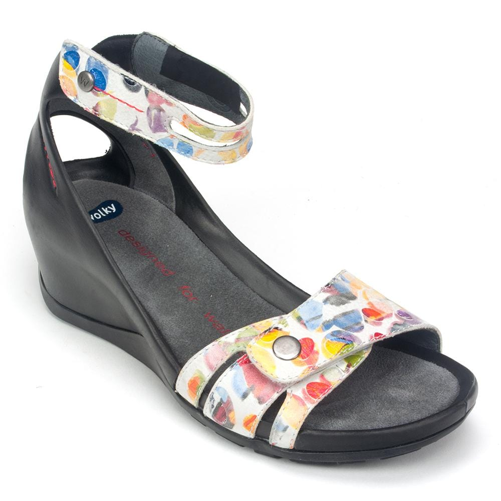 Wolky Sandal | Women's Leather Za Low Wedge Travel Sandal | Simons