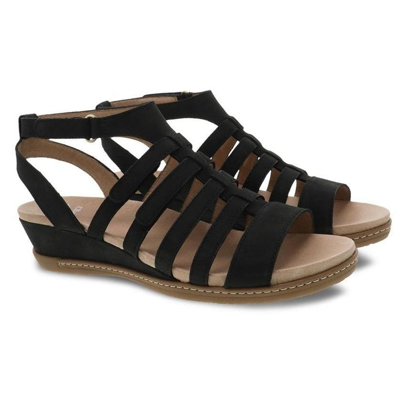 Dansko Athena Womens Gladiator Leather Wedge Sandal | Simons Shoes
