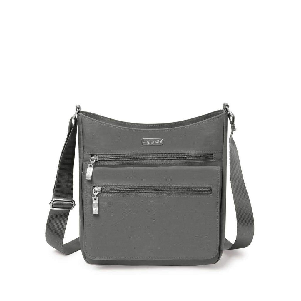 Top Zip Flap Crossbody with RFID Wristlet (TZF327) | Baggallini | Shop Simons Shoes