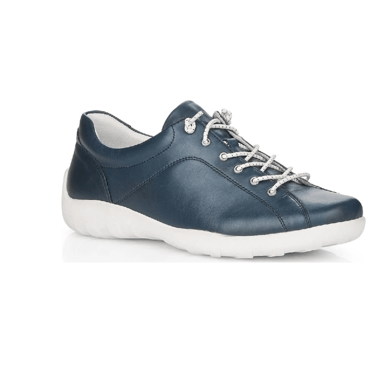 Remonte R3515 Women's Leather Slip On Casual Sneaker 14 Navy | Simons Shoes
