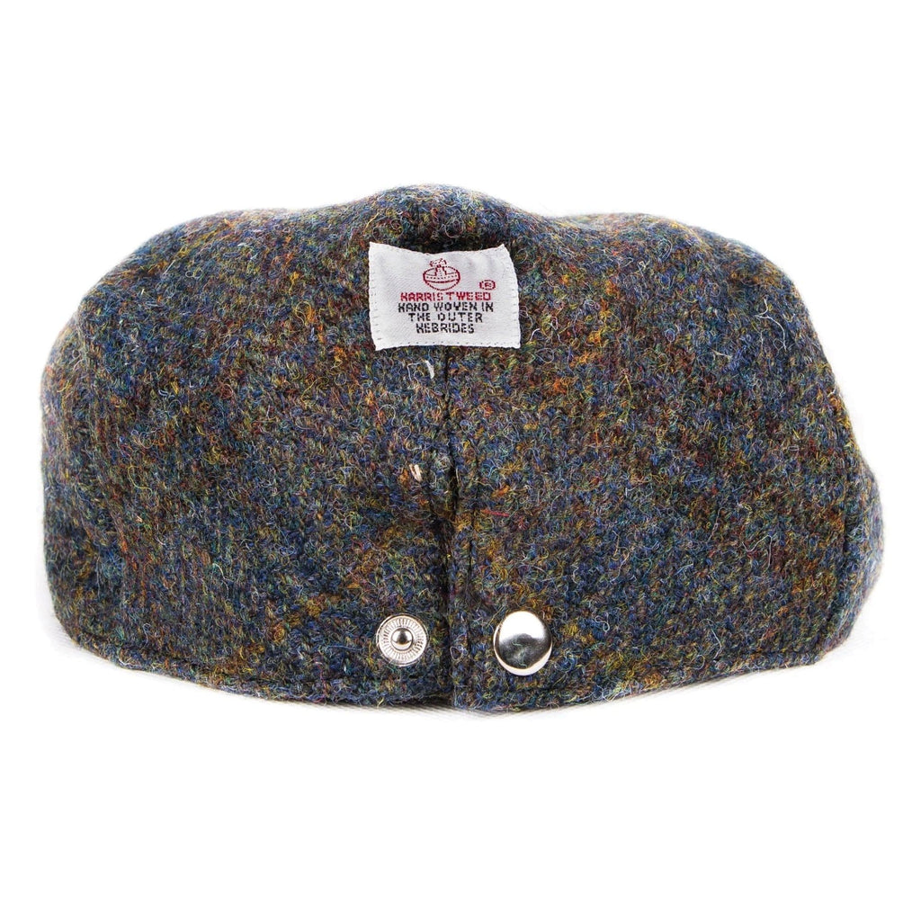 Harris Tweed Herringbone Flat Cap