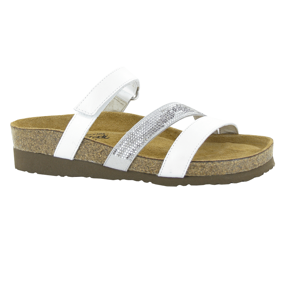 Naot Columbus Womens Adjustable Leather Slide Sandal | Simons Shoes