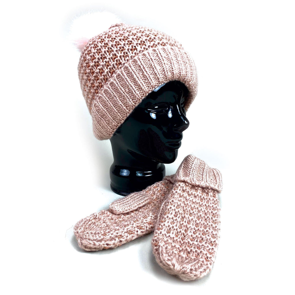 Cymbo Accessories Rose Gold Pom Hat | Simons Shoes
