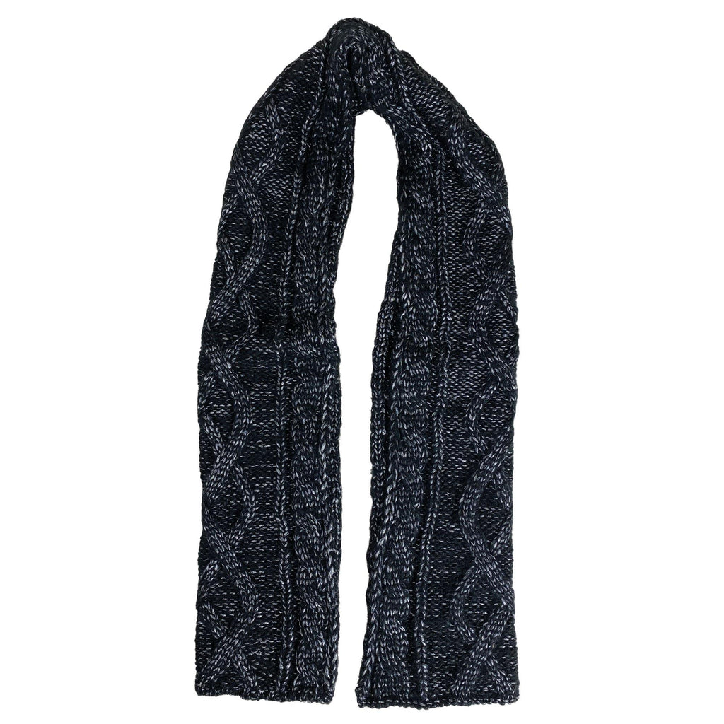 Cymbo Accessories Sheen Black Cable Knit Scarf | Simons Shoes