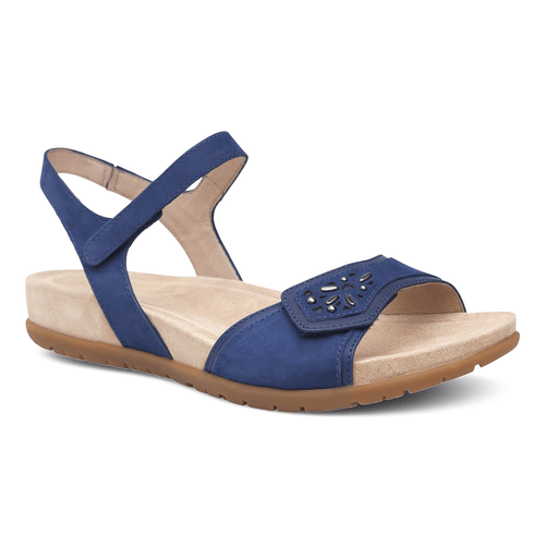Dansko Women's Blythe Leather Strap Sandal Shoe- Bring on the sunshine