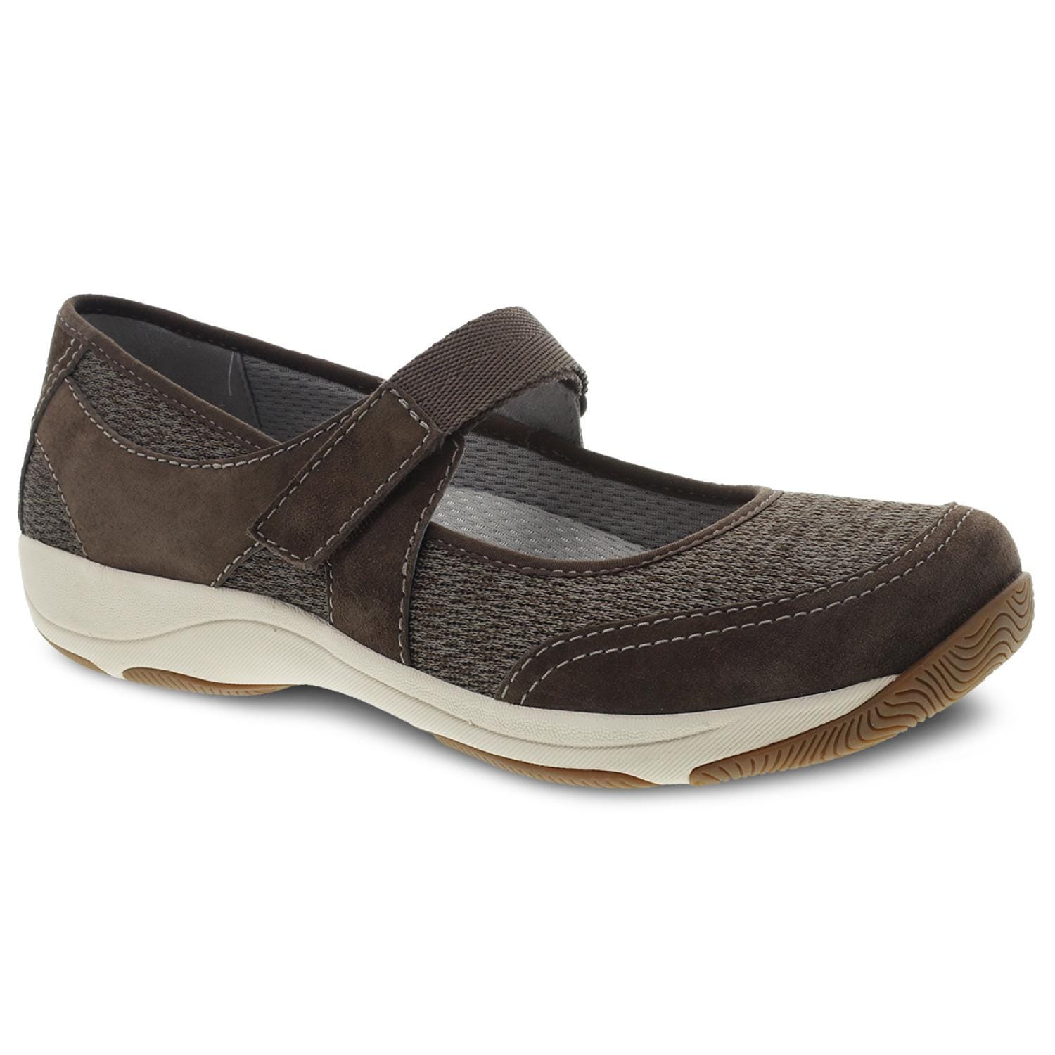 Dansko Hennie Women's Leather Mesh Casual Mary Jane Flat Sporty Shoe