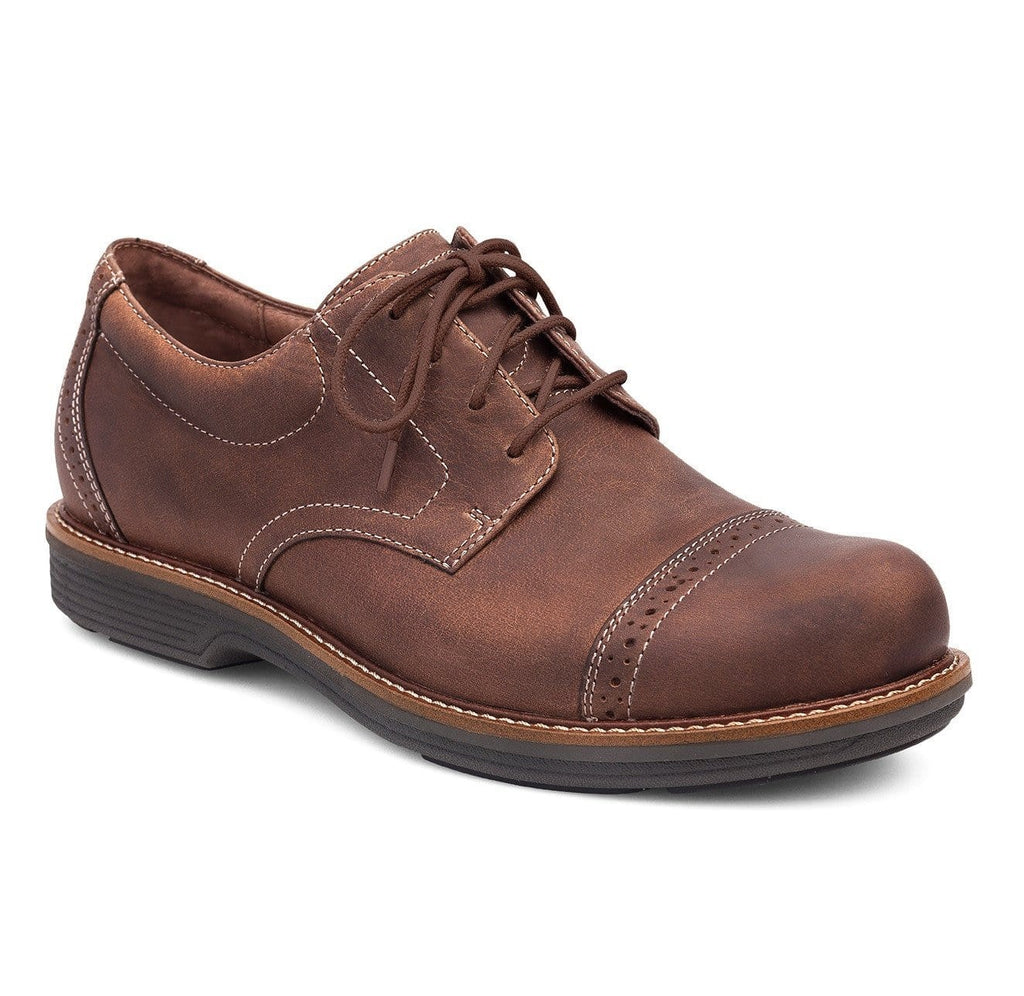 Dansko Men's Justin Leather Brouged Cap Toe Oxford Shoe