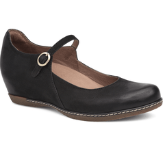 Dansko Women's Loralie Leather Strap Mary Jane Wedge Shoe